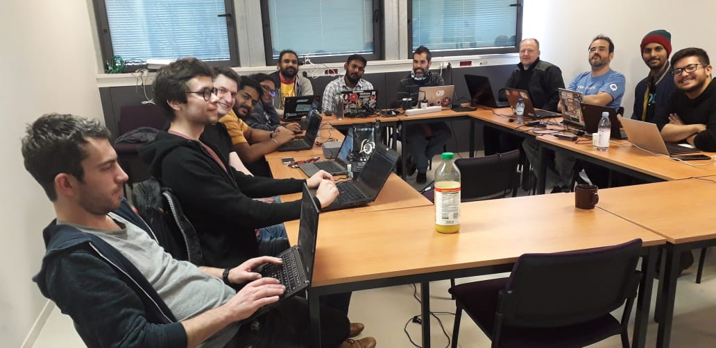 Group photo of the Ruby Team Sprint 2020 in Paris