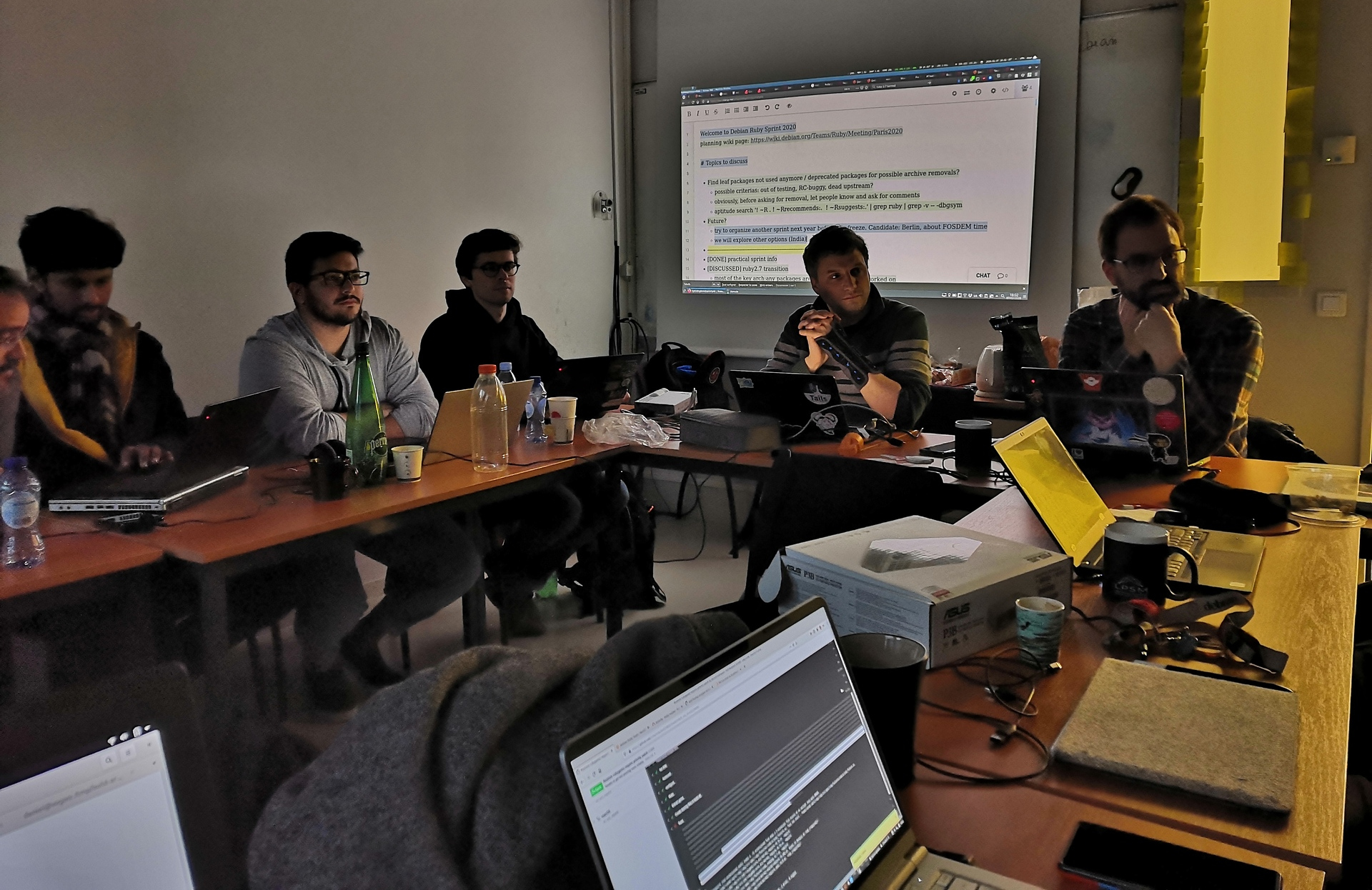 Last discussion of the Ruby Team Sprint 2020 in Paris